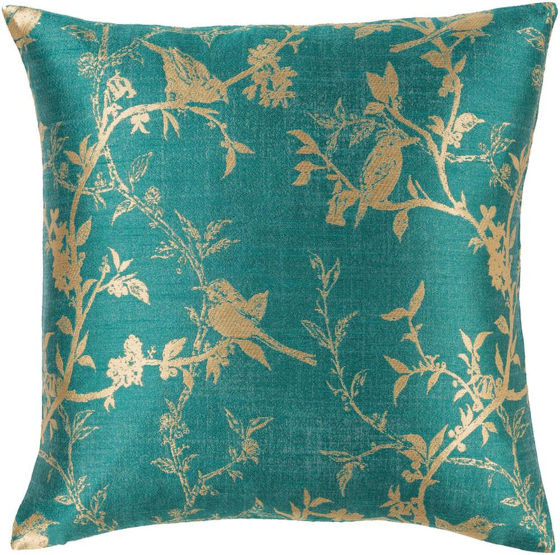 Surya Calliope Throw Pillow in Teal