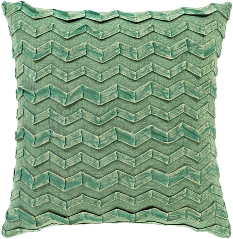Surya Caprio Throw Pillow in Dark Green