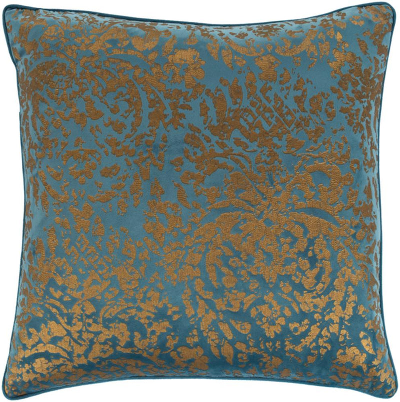 Surya Carrisa Throw Pillow in Bright Blue