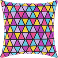 Surya Geometry Throw Pillow in Black