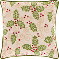 Surya Holly Berry Throw Pillow in Khaki