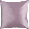 Surya Solid Luxe Throw Pillow in # color_Mauve