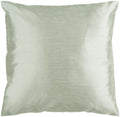 Surya Solid Luxe Throw Pillow in # color_Sea Foam