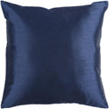 Surya Solid Luxe Throw Pillow in # color_Navy