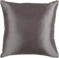 Surya Solid Luxe Throw Pillow in # color_Charcoal