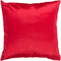 Surya Solid Luxe Throw Pillow in # color_Bright Red