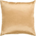 Surya Solid Luxe Throw Pillow in # color_Mustard