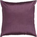 Surya Solid Luxe Throw Pillow in # color_Dark Purple