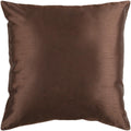 Surya Solid Luxe Throw Pillow in # color_Dark Brown