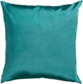 Surya Solid Luxe Throw Pillow in # color_Teal