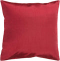 Surya Solid Luxe Throw Pillow in # color_Dark Red