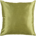 Surya Solid Luxe Throw Pillow in # color_Dark Green
