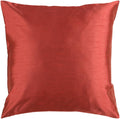 Surya Solid Luxe Throw Pillow in # color_Rust