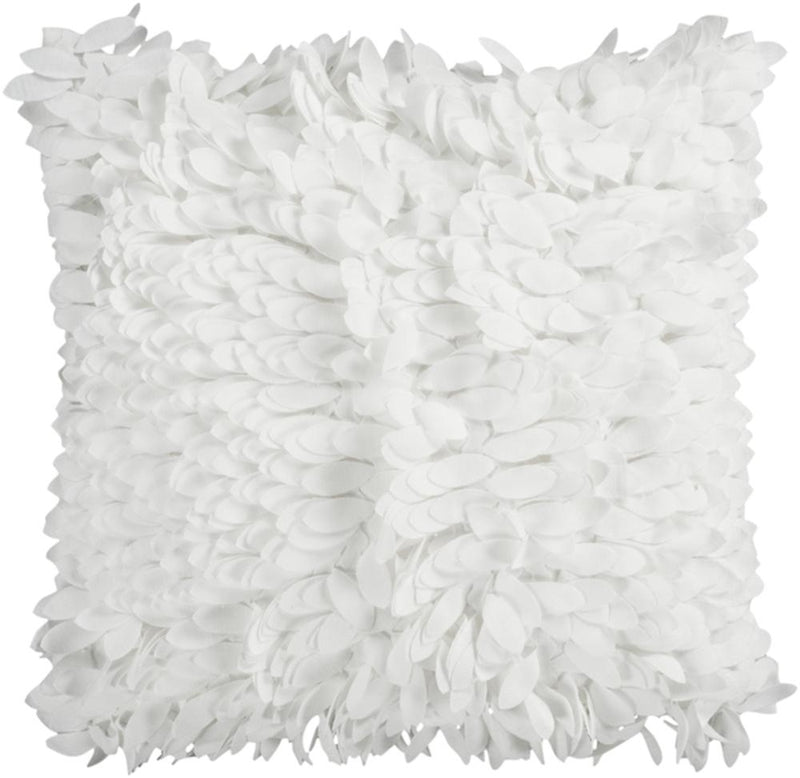 Surya Claire Throw Pillow in White