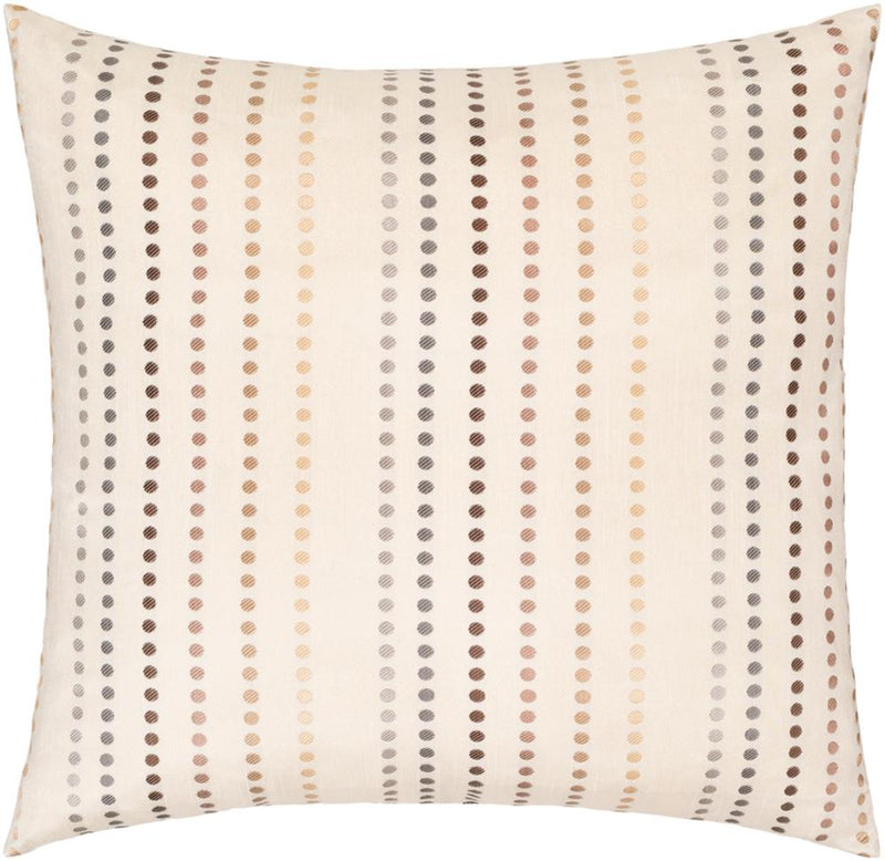 Surya Dots Throw Pillow in Khaki