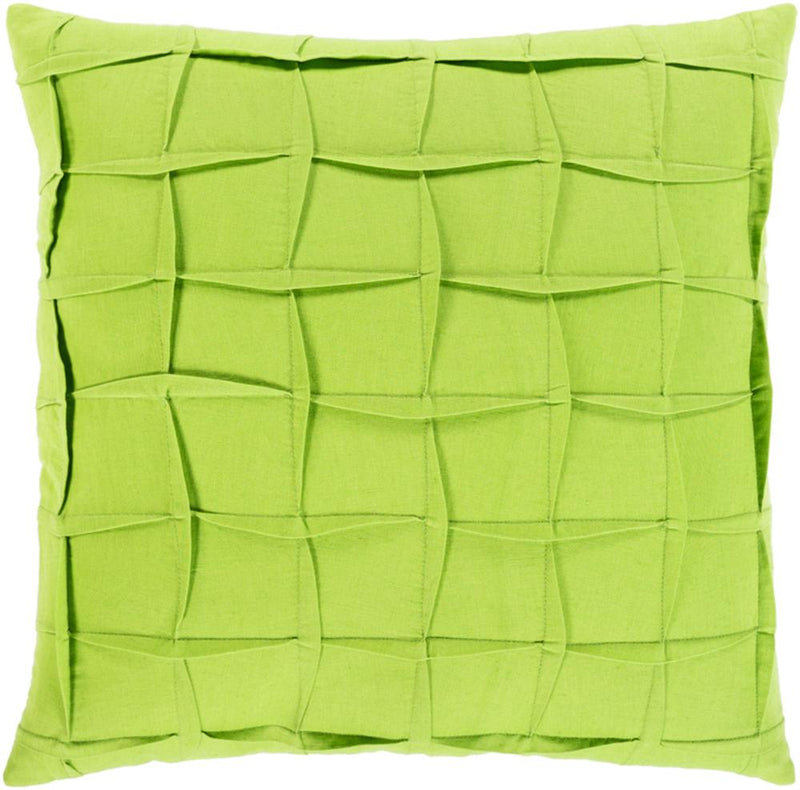 Surya Halen Throw Pillow in Bright Yellow