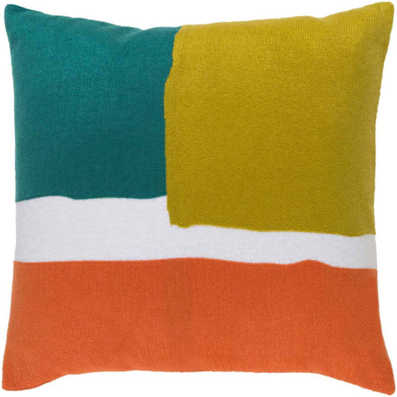 Surya Harvey Throw Pillow in Bright Orange