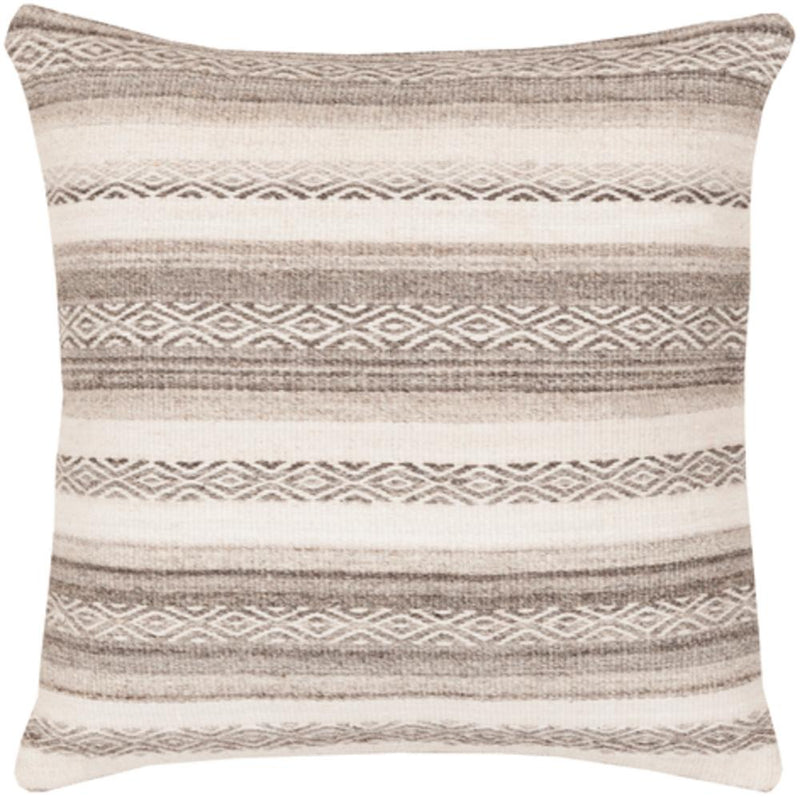Surya Isabella Throw Pillow in Light Gray