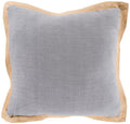 Surya Jute Flange Throw Pillow in Medium Gray