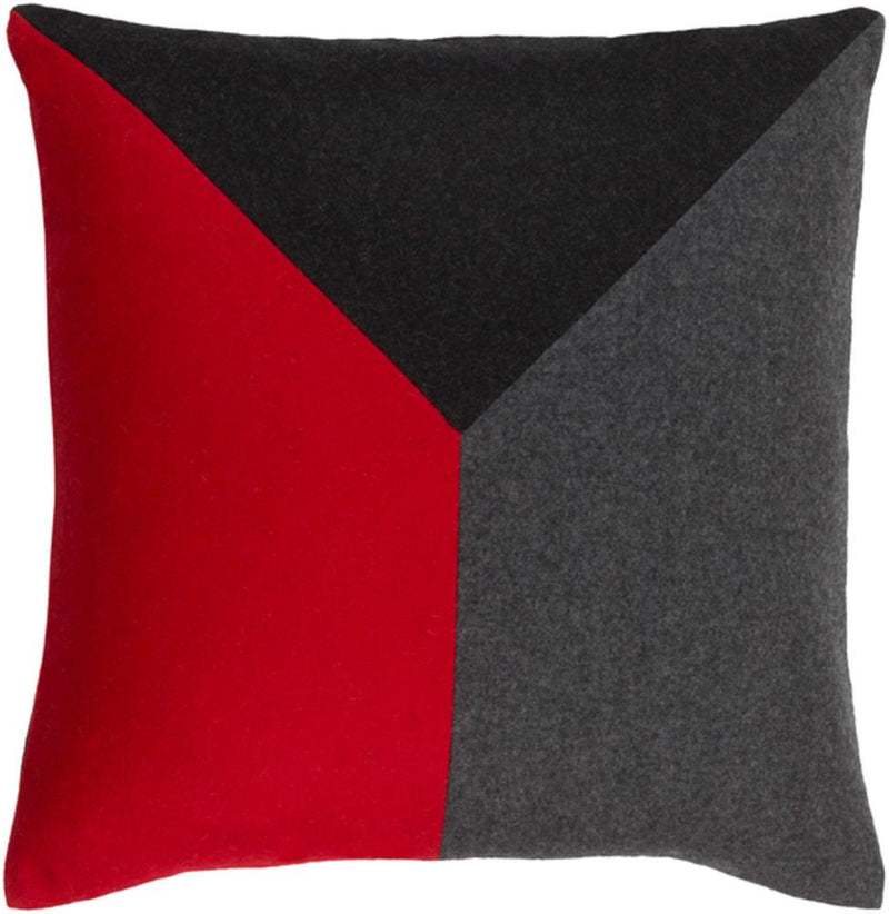 Surya Jonah Throw Pillow in Charcoal