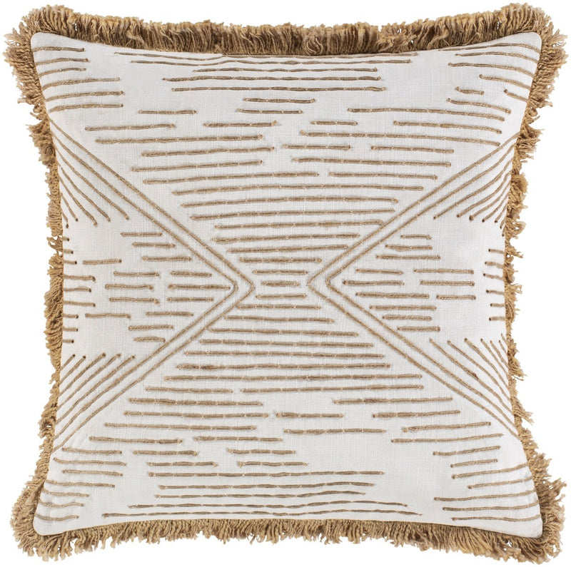 Surya Jahari Throw Pillow in Cream