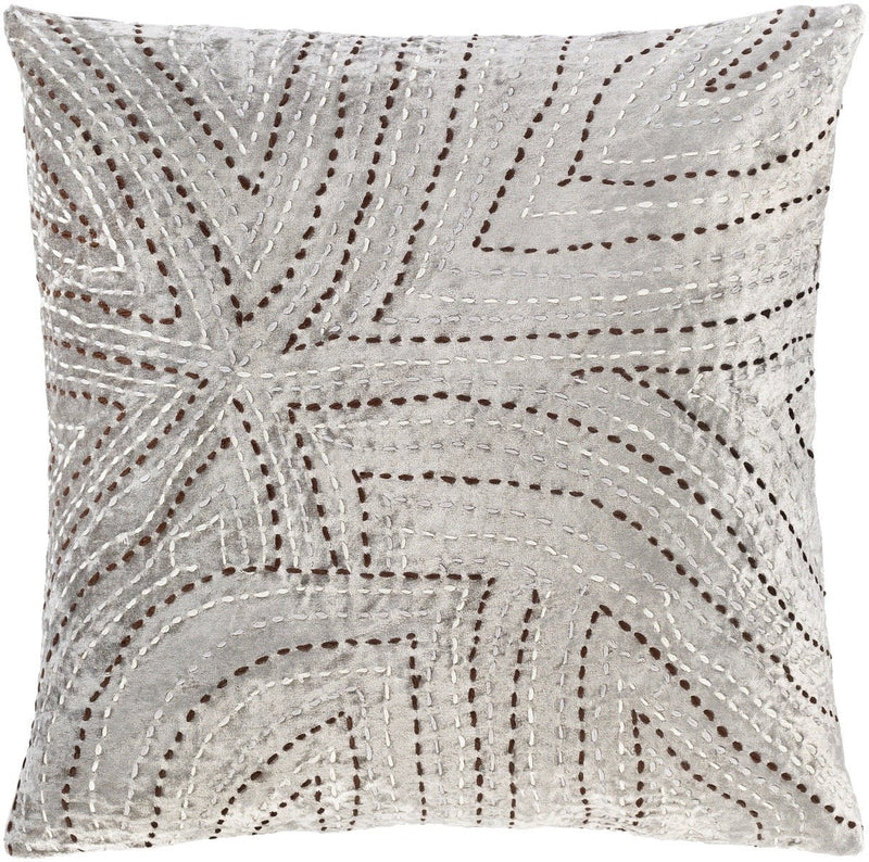 Surya Kenzo Throw Pillow in Light Gray