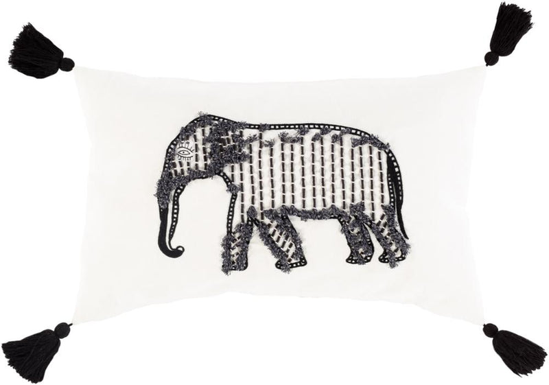 Surya Laos Throw Pillow in White