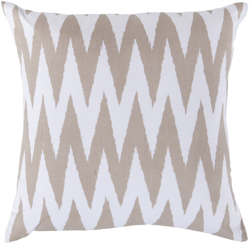Surya Vibe Throw Pillow in White