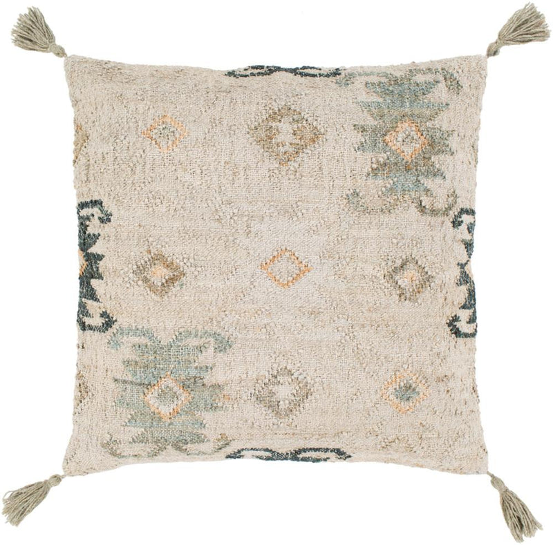 Surya Lenora Throw Pillow in Khaki