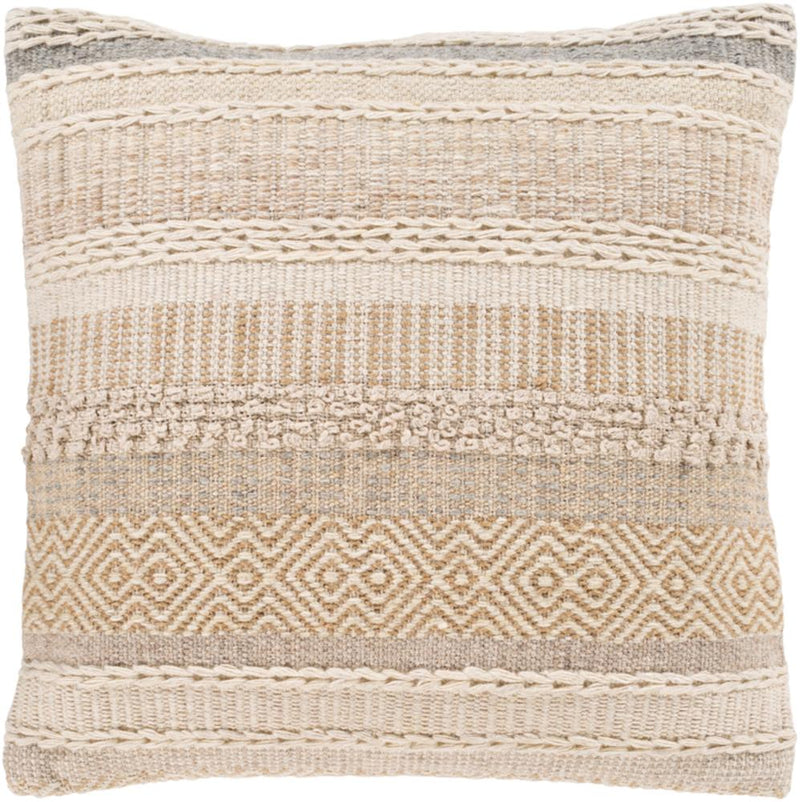 Surya Lorens Throw Pillow in Camel