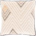 Surya Mila Throw Pillow in Beige