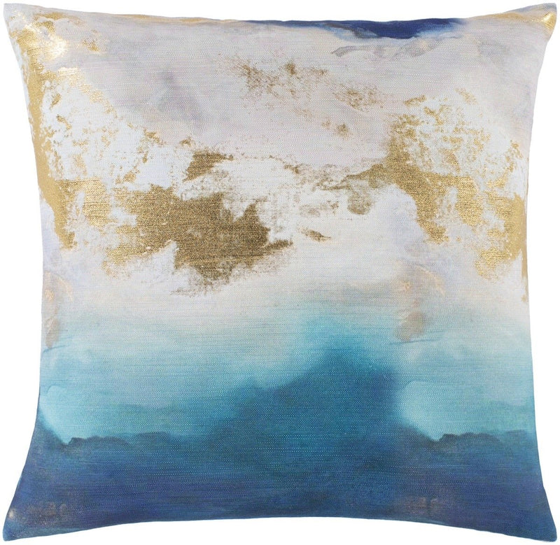 Surya Mira Throw Pillow in Aqua