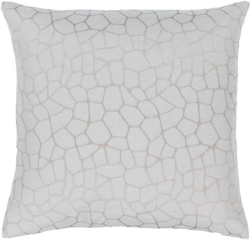 Surya Masai Throw Pillow in Silver Gray