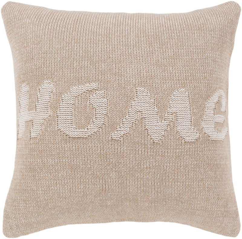 Surya No Place Like Home Throw Pillow in Khaki