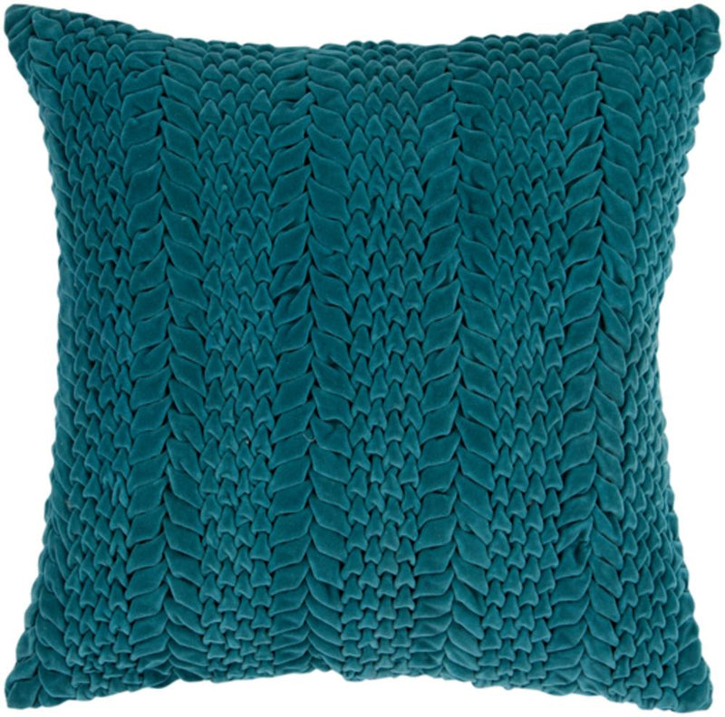 Surya Velvet Luxe Throw Pillow in Emerald
