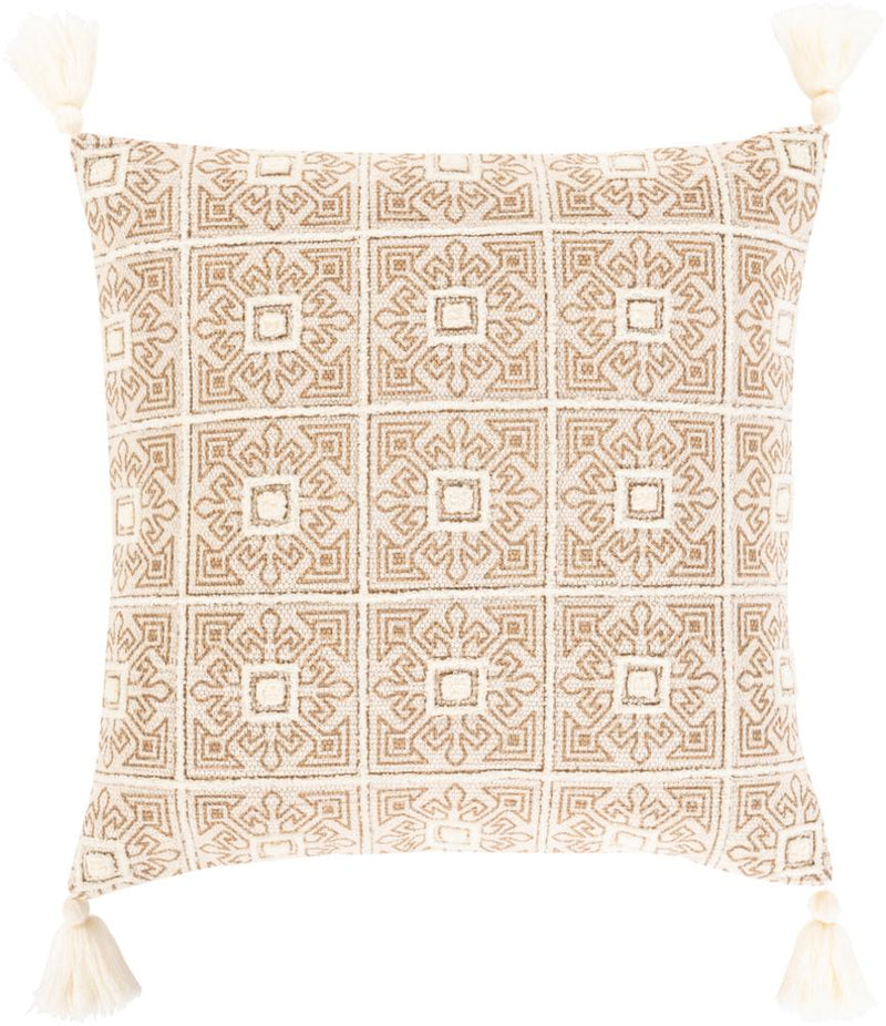 Surya Parisa Throw Pillow in Cream