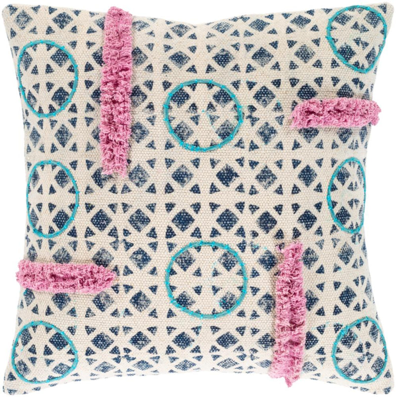 Surya Phoebe Throw Pillow in Beige