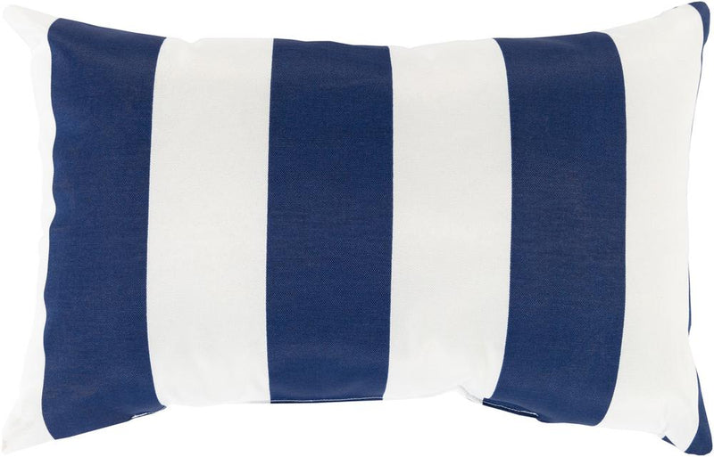Surya Poolhouse Outdoor Throw Pillow in Navy