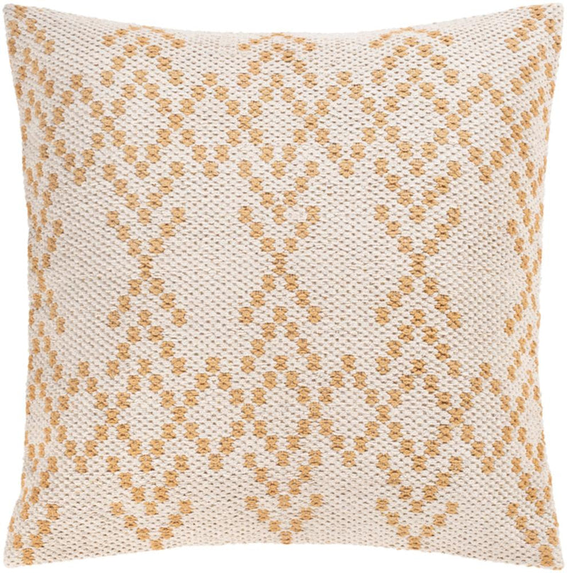Surya Ryder Throw Pillow in Cream