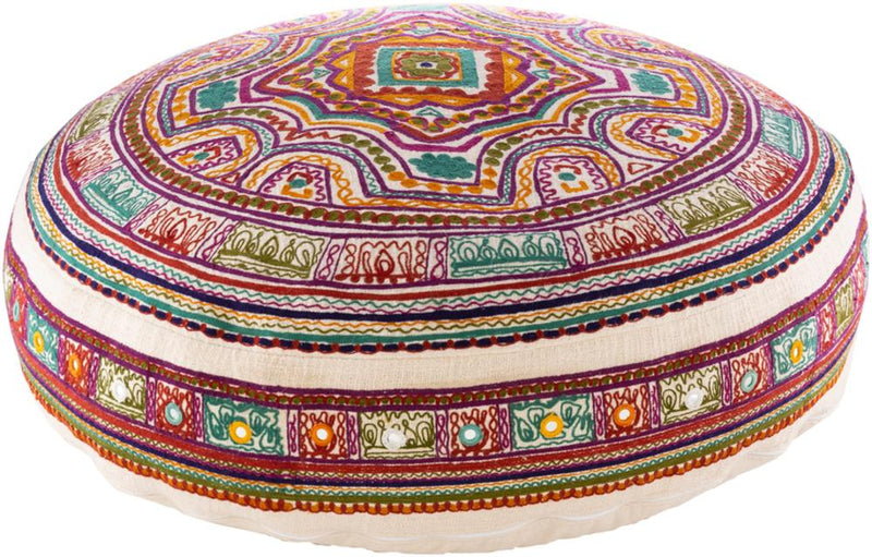 Surya Ridhi Floor Pillow in Beige