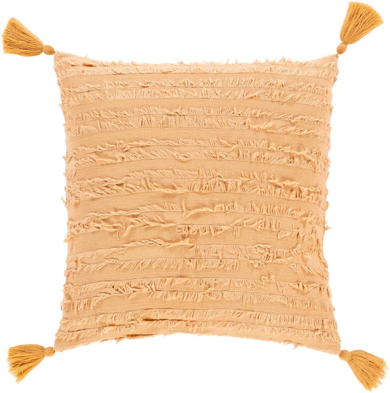 Surya Sereno Throw Pillow in Camel