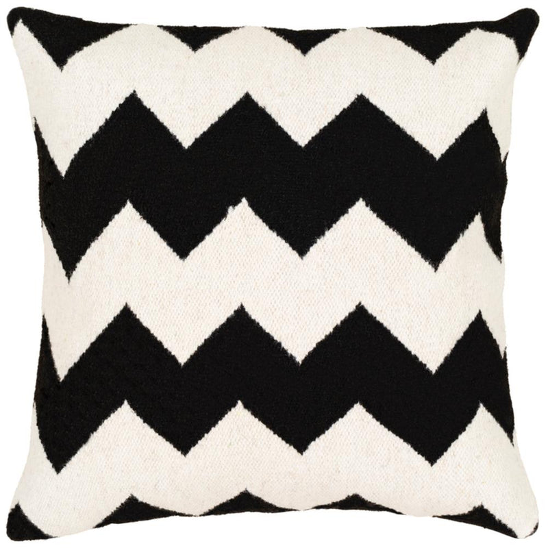 Surya Shiprock Throw Pillow in Black