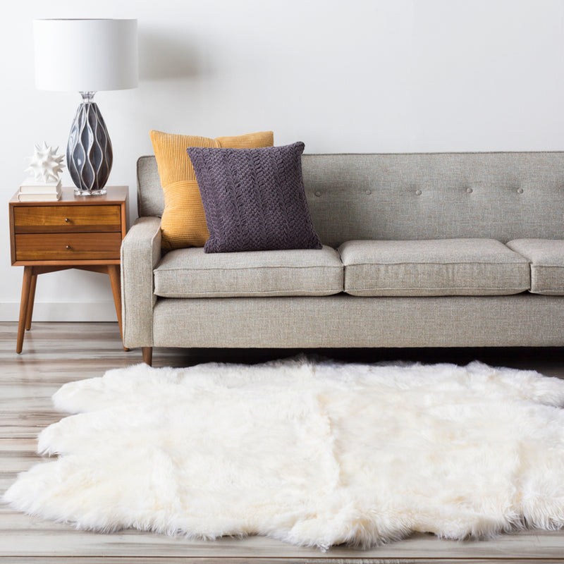 Sheepskin Area Rug by Surya in Ivory