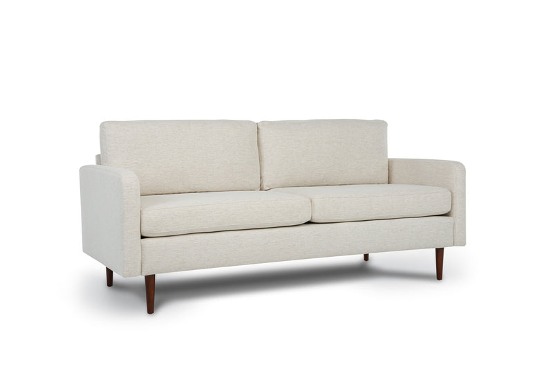 Bundle Sofa in Snow with 2 X 2 Cushion Arrangement and Straight arms