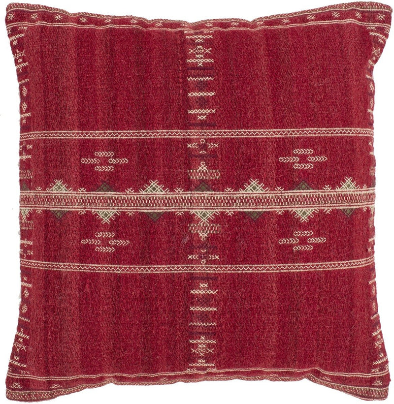 Surya Stine Throw Pillow in Bright Red