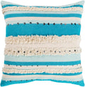 Surya Temara Throw Pillow in Aqua