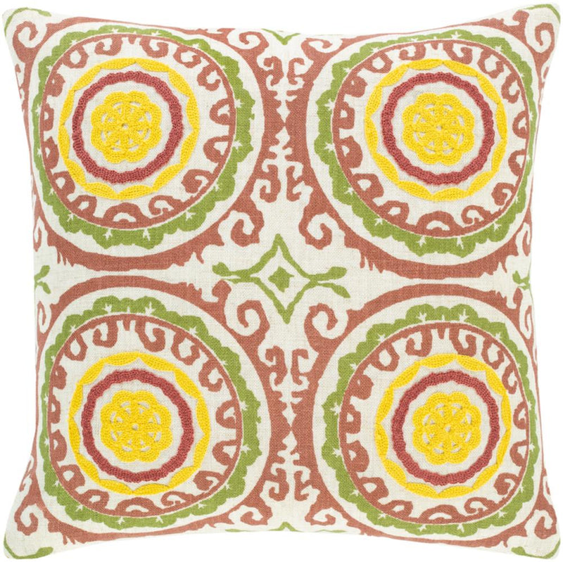 Surya Termez Throw Pillow in Ivory