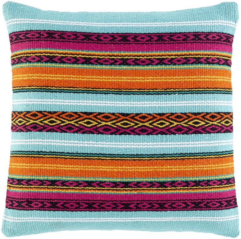 Surya Toluca Throw Pillow in Aqua