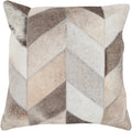 Surya Trail Throw Pillow in Black