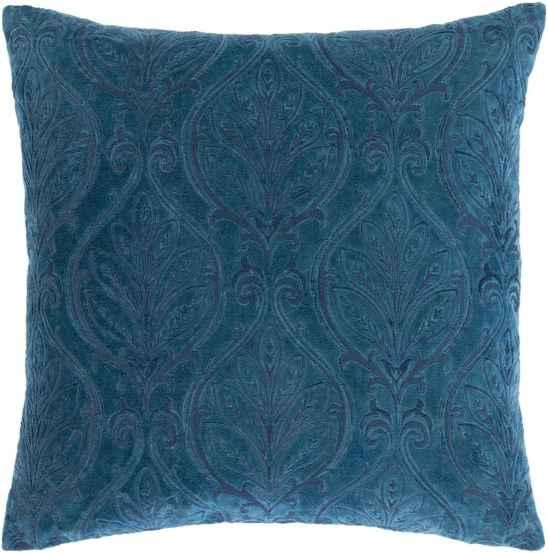Surya Toulouse Throw Pillow in Dark Blue